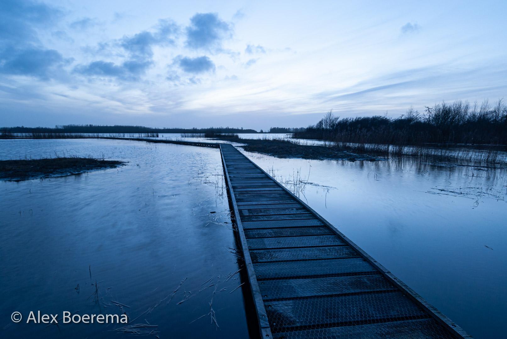 plankier nabij haven Lauwersgat. januari 2009