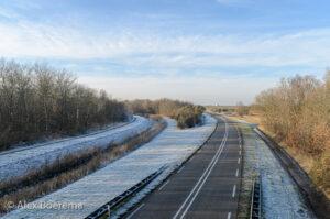 Marneweg vanaf het hoogholtje. december 2016